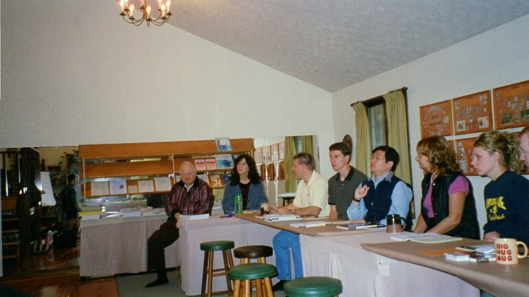 Attendees around conference table